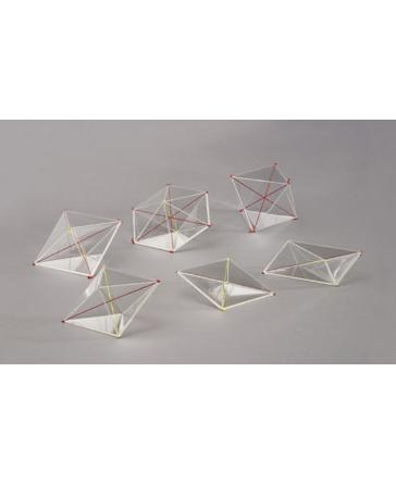 Komplet od 6 komada modela kristala 641-24
