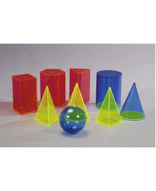 Komplet od 9 komada geometrijskih tijela 641-240-SB