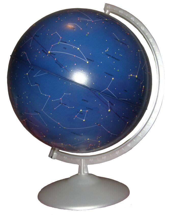 Globus s astronomskom kartom neba.