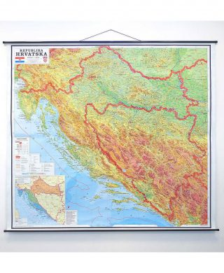 Geografska karta Republika Hrvatska