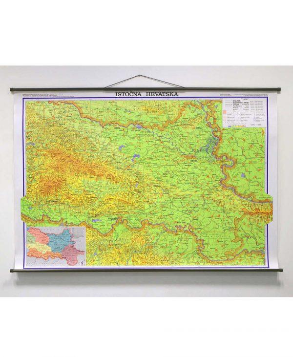 Geografska karta Istočna Hrvatska