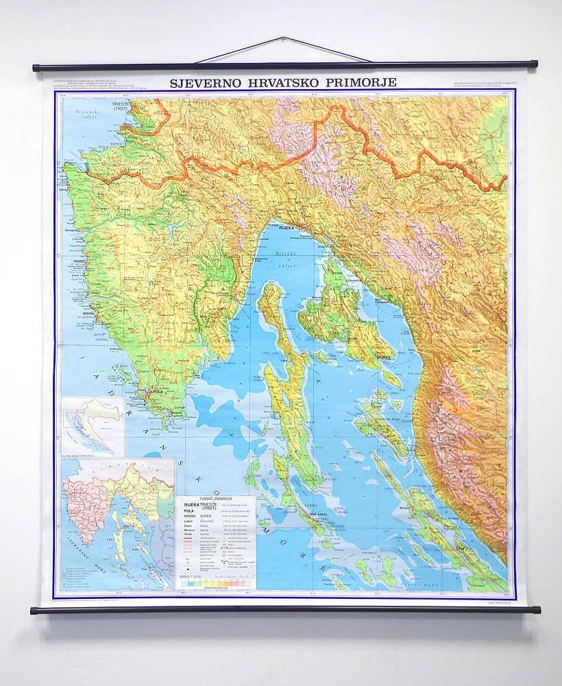 Geografska karta Sjeverno Hrvatsko Primorje