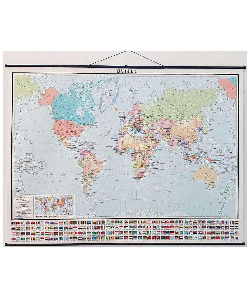 KARTA SVIJET (politički zemljovid)