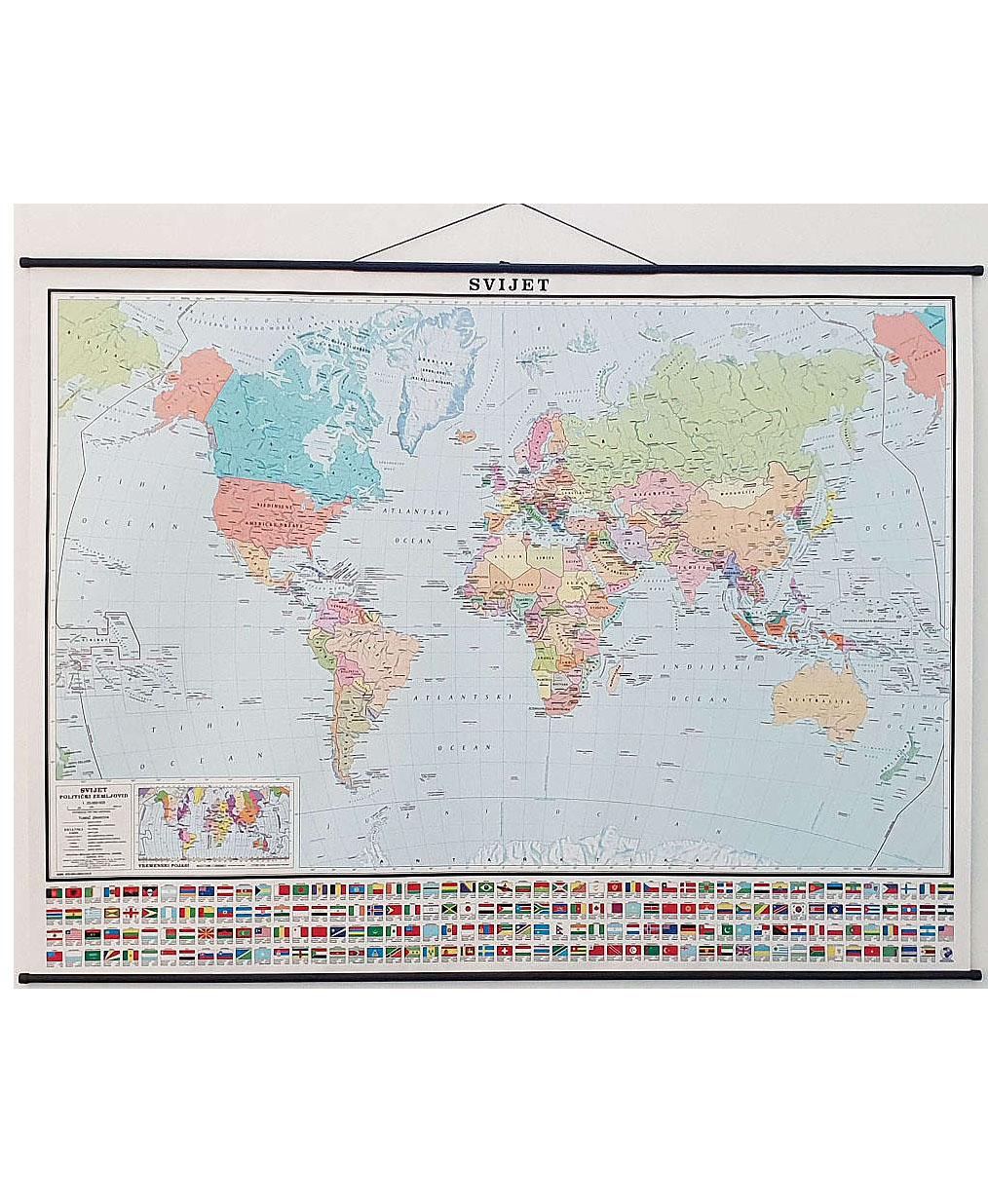 Geografska karta Svijet (politički zemljovid)