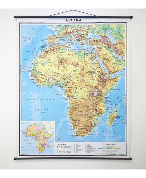 Geografska karta Afrika
