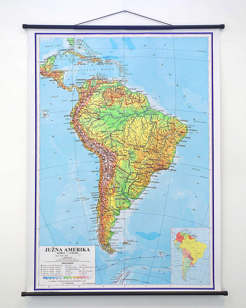 Geografska karta Južna Amerika