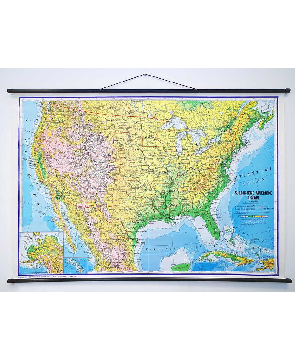 Geografska karta SAD