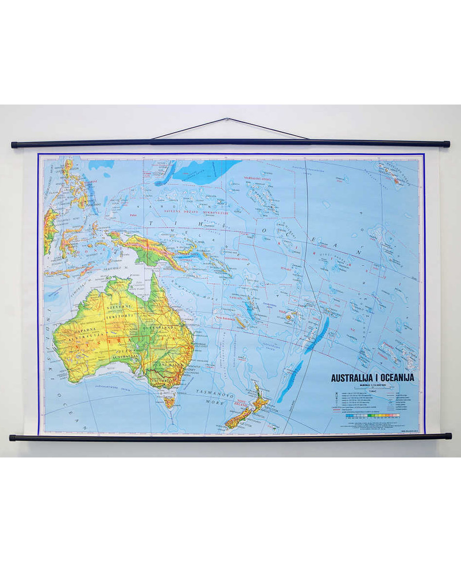 Geografska karta Australija i Oceanija