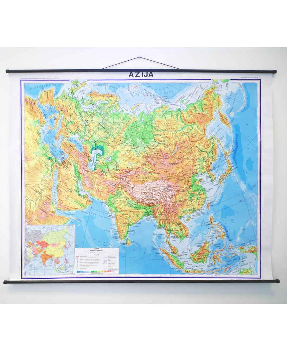 Geografska karta Azija