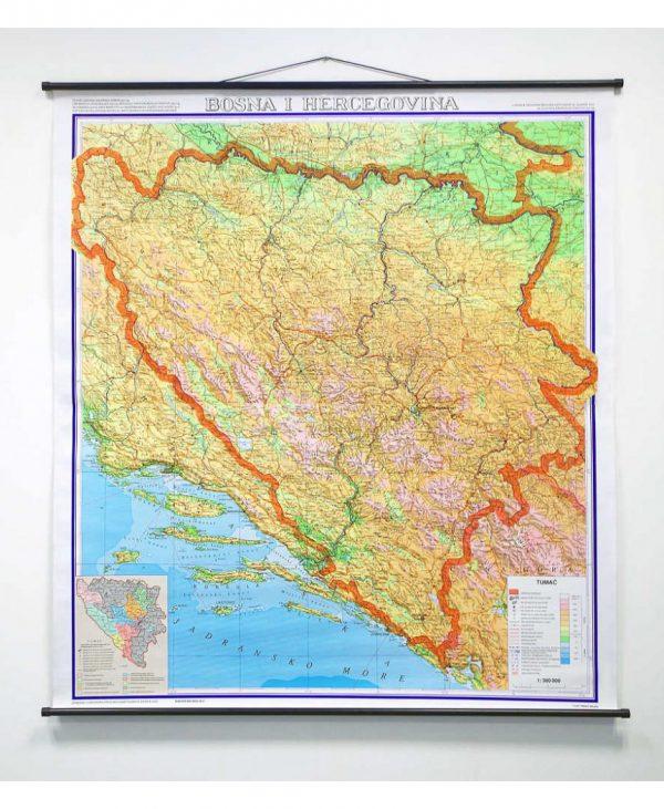 Geografska karta Bosna i Hercegovina