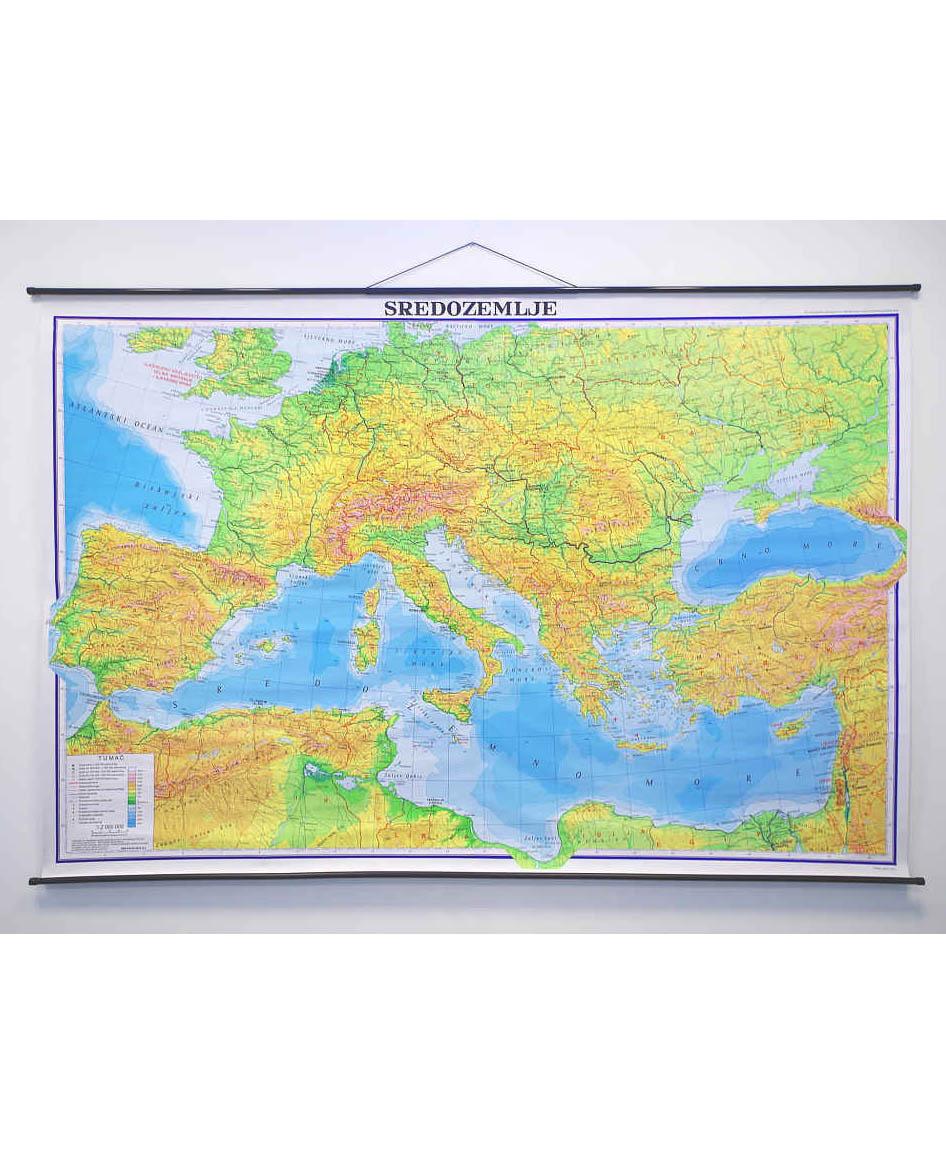 Geografska karta Sredozemlje