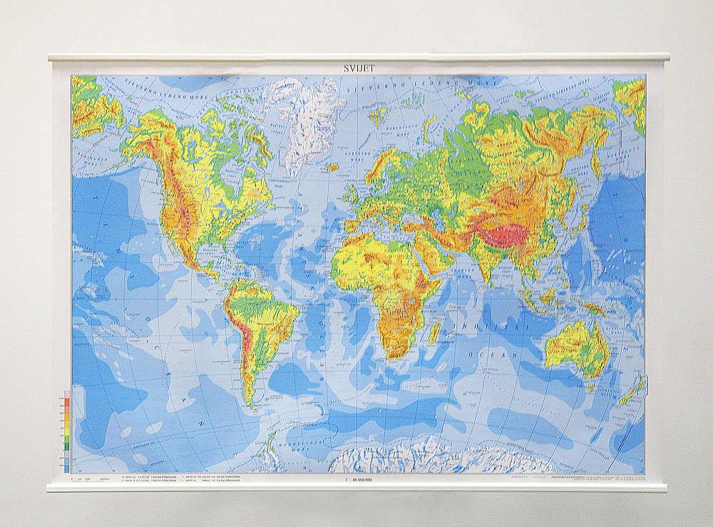 Geografska karta Svijeta.