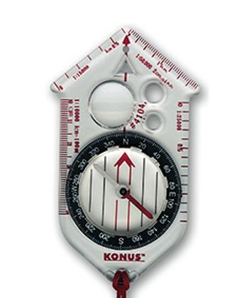 Kompas s osnovnim grafickim mjerilima
