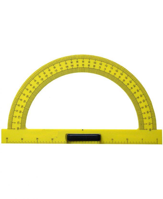 Kutomjer za školsku ploču 180°-50 cm PVC