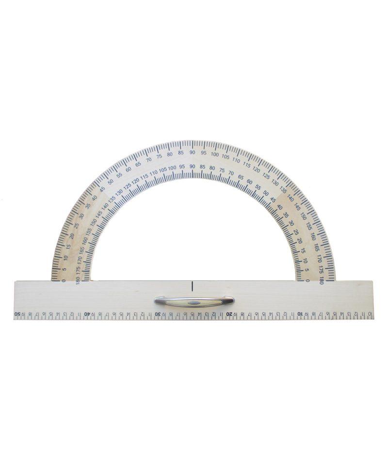 Kutomjer 180 -50 cm drveni magnetni