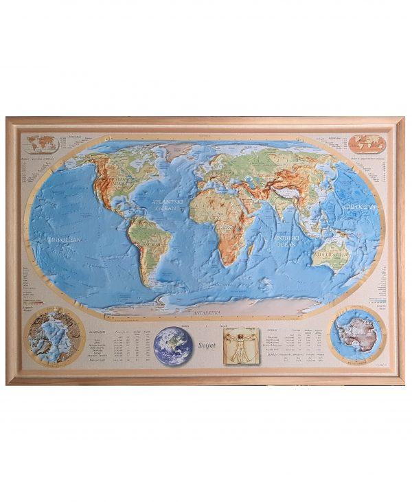 reljefna karta svijeta