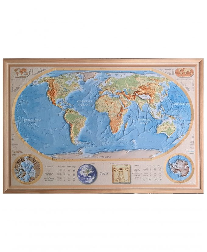 Svijet reljefna karta