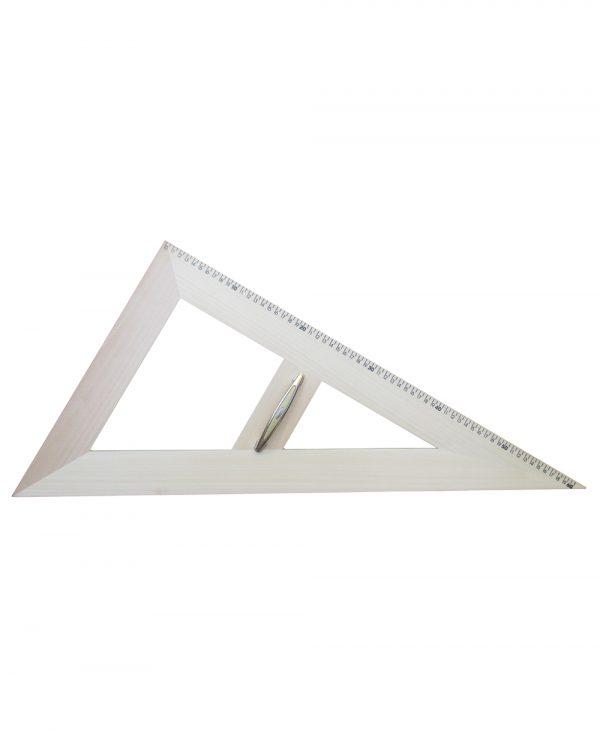Trokut za školsku ploču 30°/60° - 60 cm drveni magnetni.