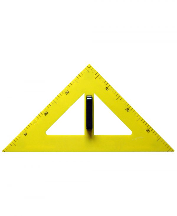 Trokut za školsku ploču PVC 45° - 60 cm