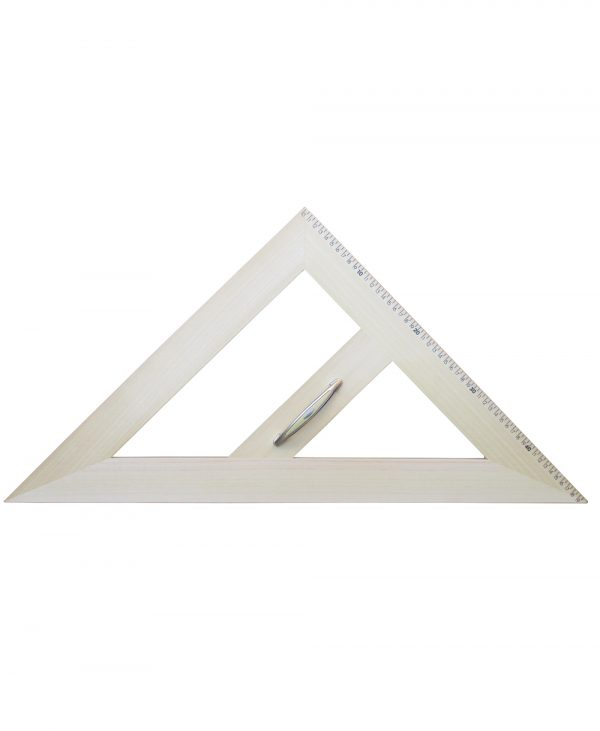 Trokut za školsku ploču drveni magnetni 45°/45°