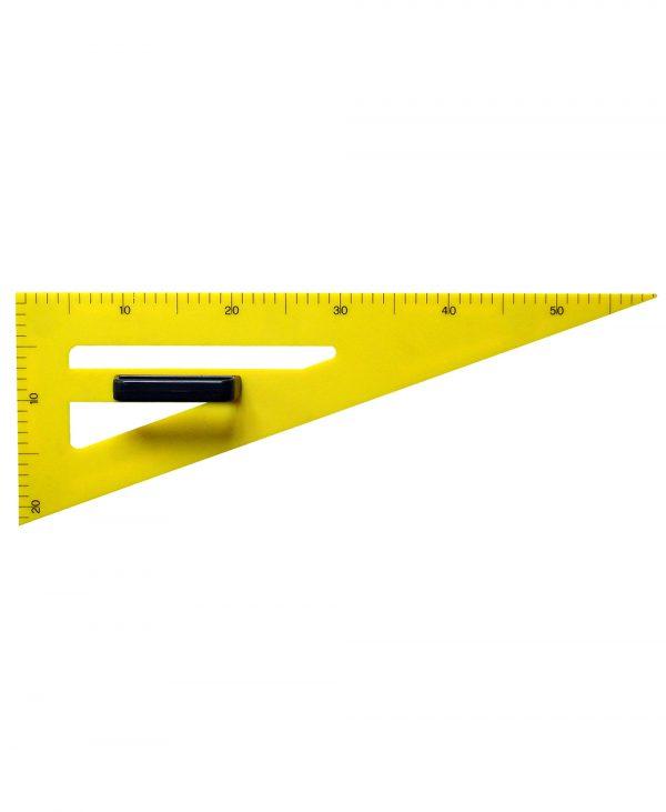 Trokut za školsku ploču PVC 70° - 60 cm