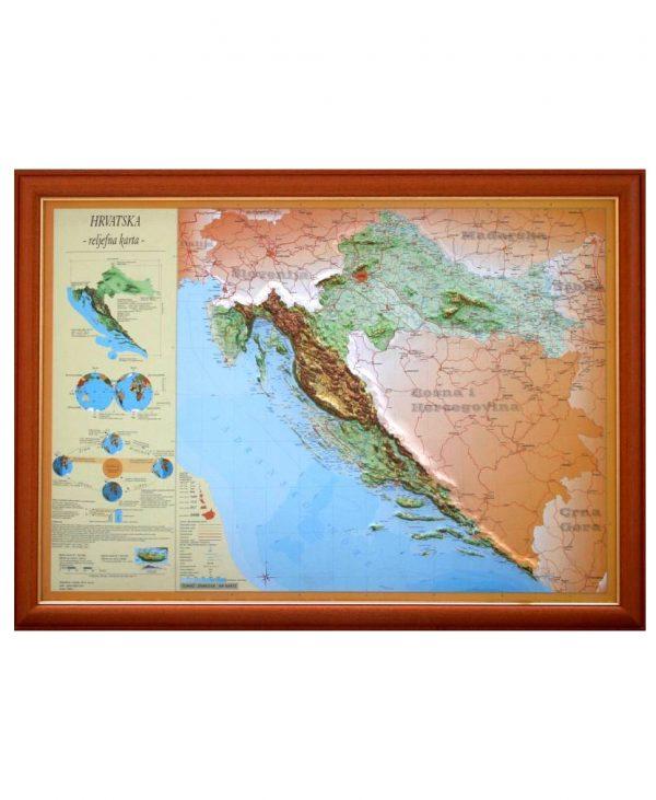 Reljefna karta hrvatske