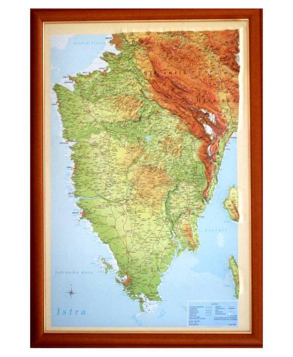 Reljefna karta Istre