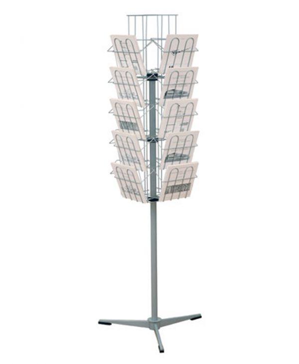 Okretni stalak za knjige od metala - vrtuljak