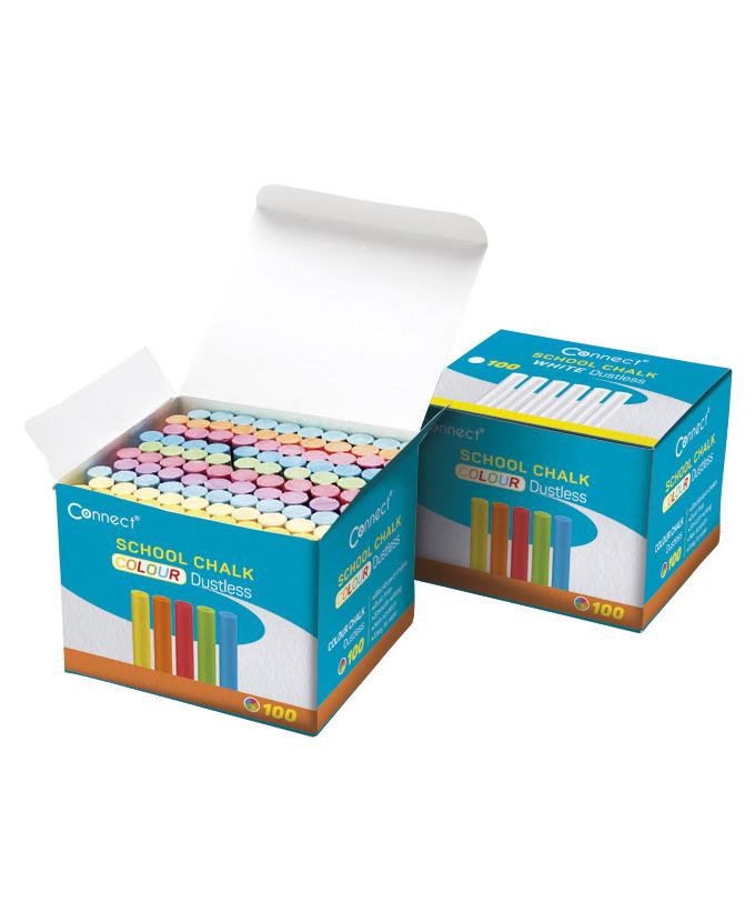 Kreda Connect okrugla, besprašna, 10 boja, pk100