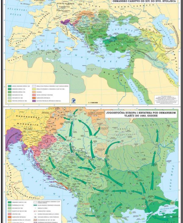Karta Razvoj Osmanskog carstva KP204