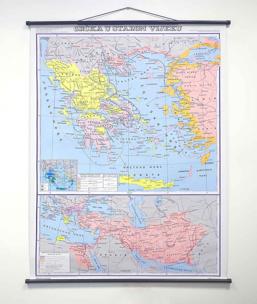 Karta Grčka u starom vijeku