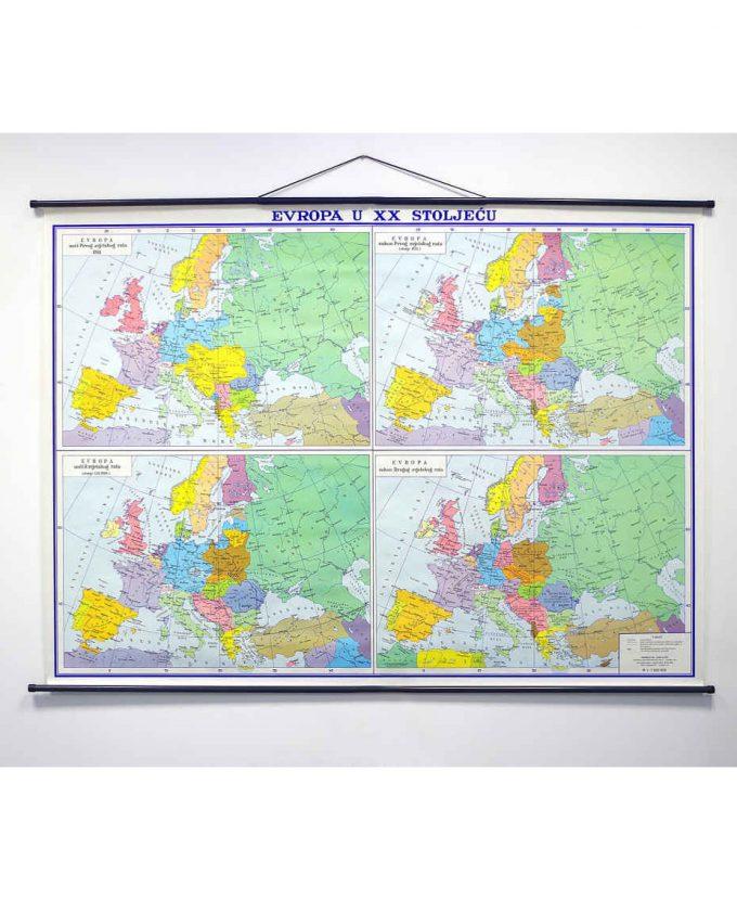 Karta Europa u 20. stoljeću