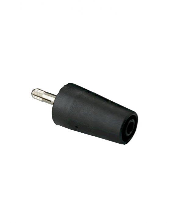 Sigurnosni adapter banana, 1000 V, crni
