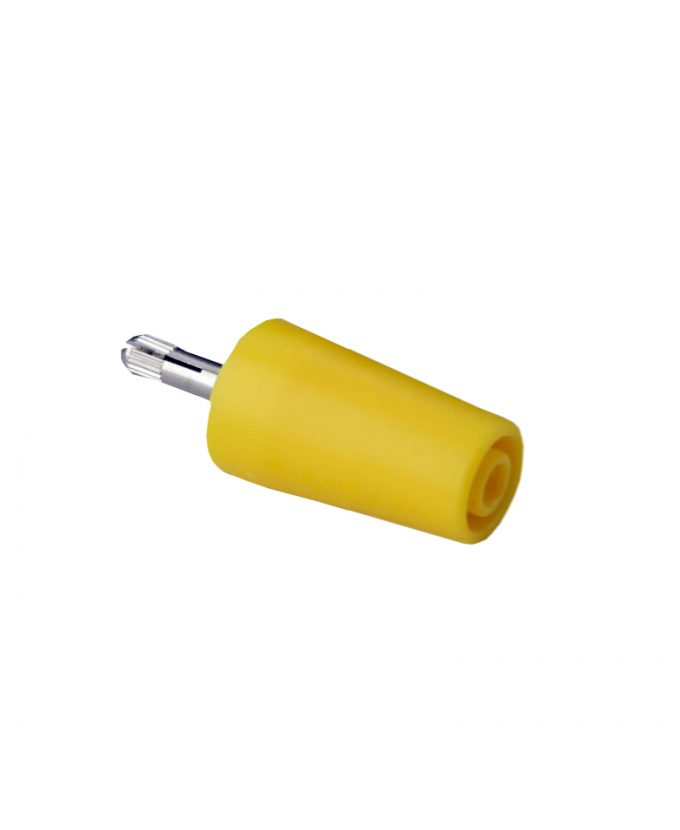 Sigurnosni adapter banana, 1000 V, žuti