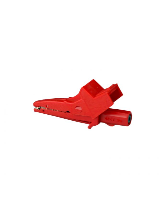 Izolirana sigurnosna krokodil spojnica, crvena