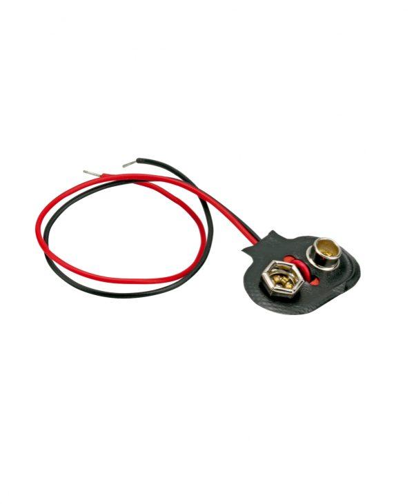 Držač baterije za 1 x 9 V E-blok, spoj kopčom
