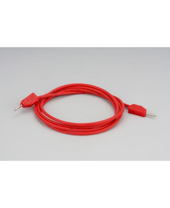 Kabel s utikačima od 2 mm, 100 cm, crveni
