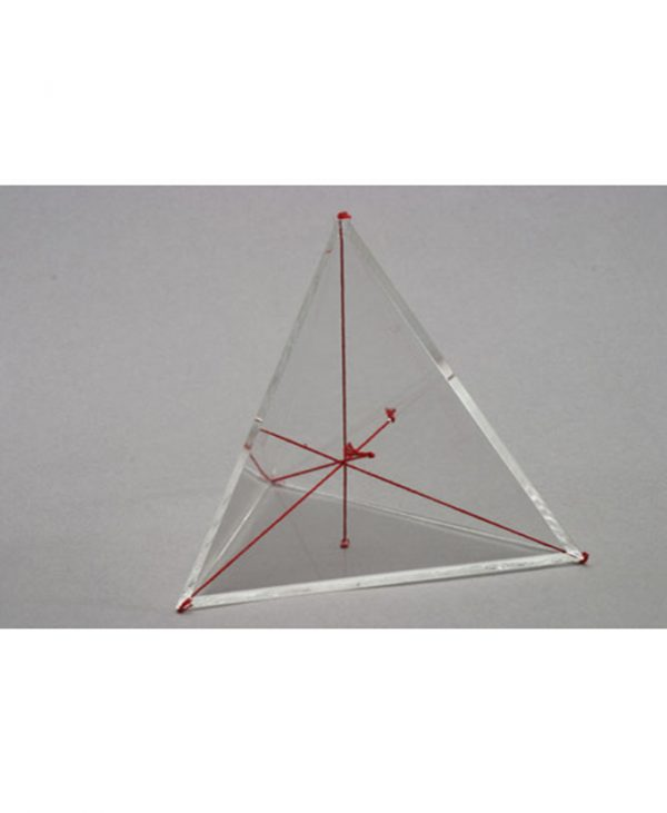 Tetraedar s okomicama u boji