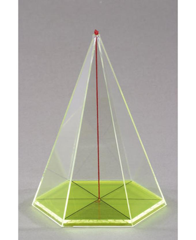 Šesterostrana piramida s osnom niti