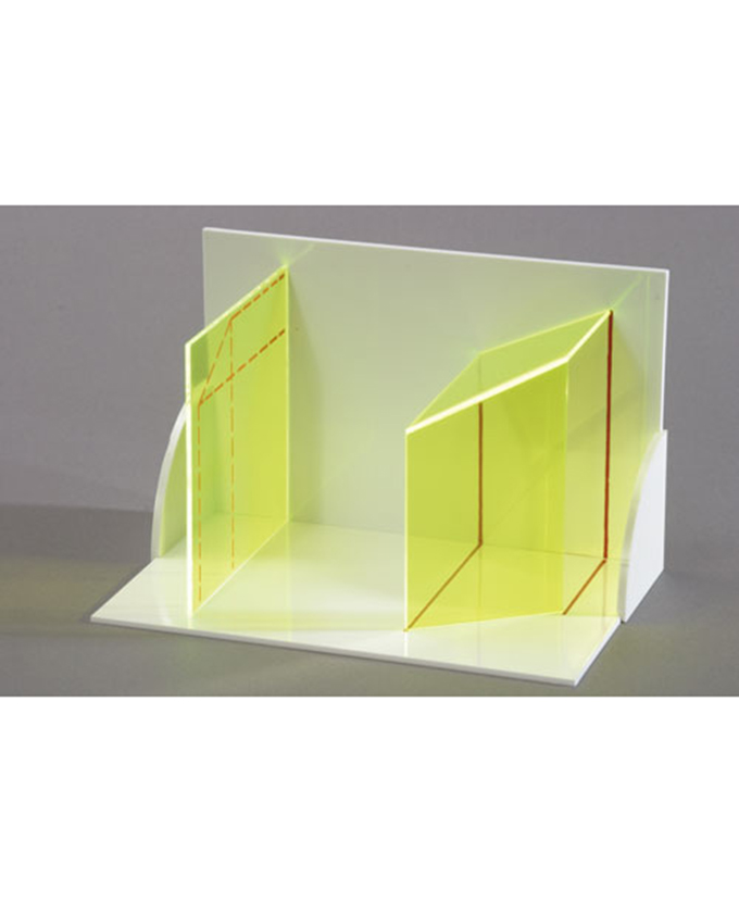 3D model projekcije tijela: trodimenzionalni model visina točaka, čije se visine podudaraju i ravne linije