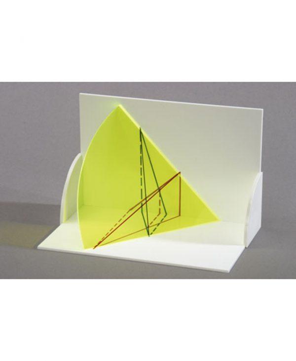 3D model projekcije tijela: Trodimenzionalni model visine od dvije koplanarne ravne linije.