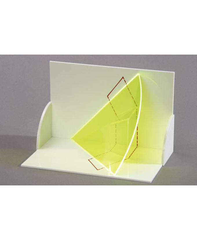 3D model projekcije tijela: Trodimenzionalni model prave duljine linije u segmentu horizontalne i vertikalne duljine