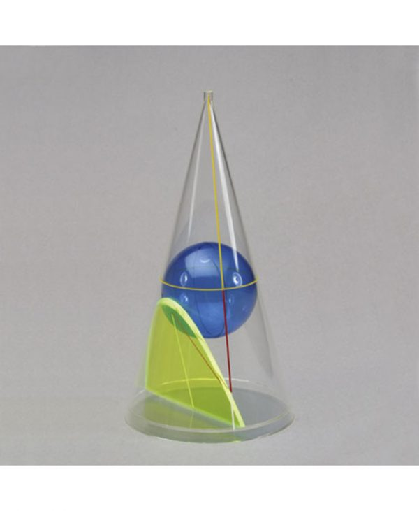 Stožac s parabolom i kuglom
