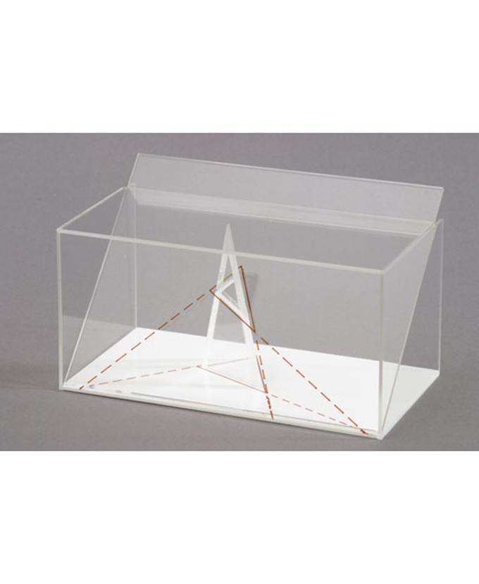 3D model projekcije trostrane kose piramide