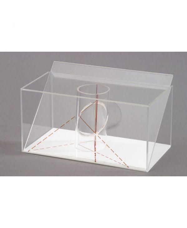 3D model projekcije tijela: Model projekcije presjeka valjka