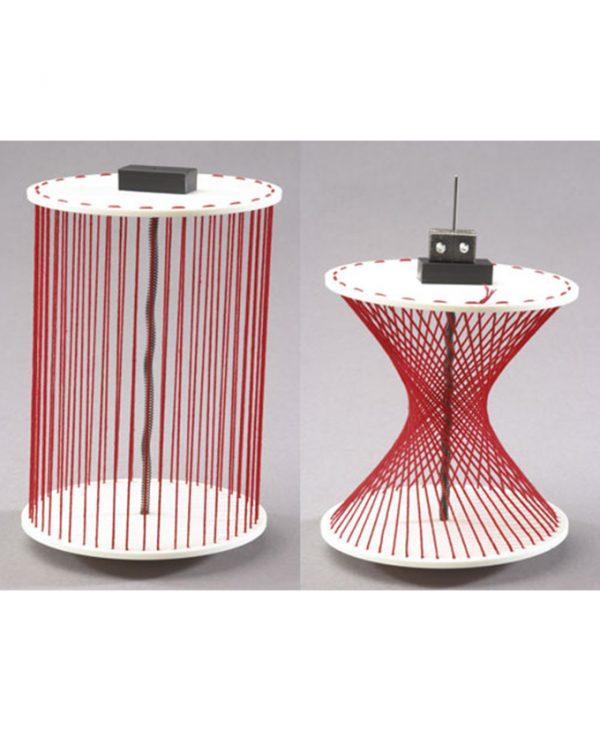 Okretni model od niti: valjak ili dvostruki stožac.