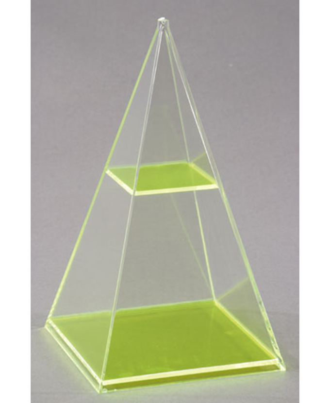 Kvadratna piramida s vodoravnim presjekom