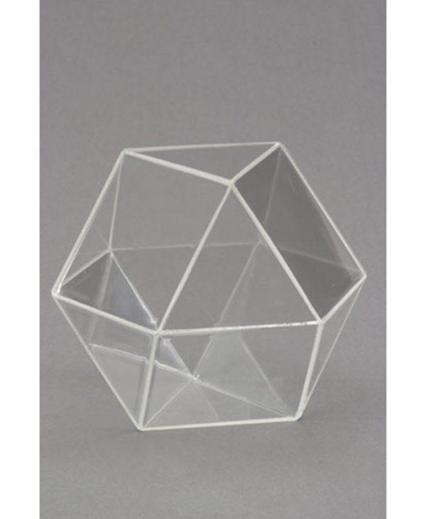 Poliedar (oktaedar + heksaedar) s zatvorenim stranicama, proziran