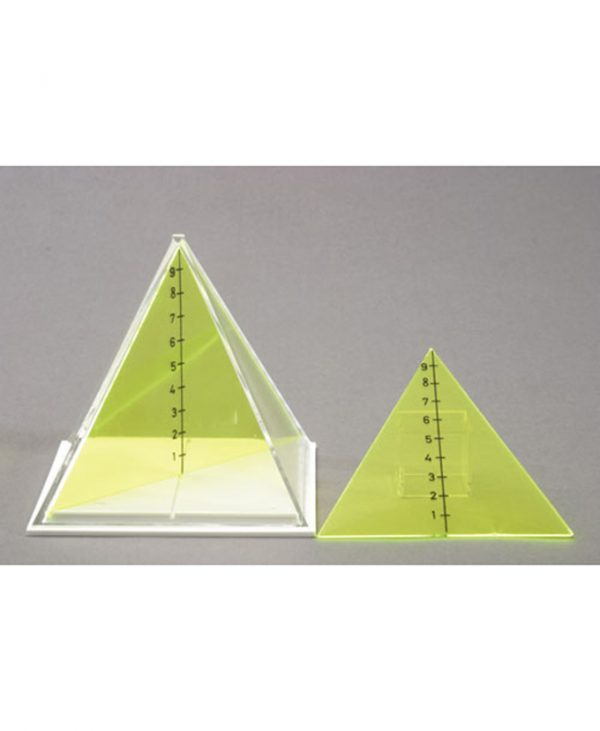Kvadratna piramida s dva odvojiva presjeka