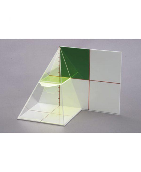 Demonstracija omjera između područja različitih presjeka u obliku piramide